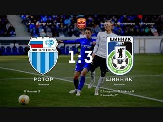 Олимп-Первенство ФНЛ-2018/19. 24-й тур. Ротор - Шинник - 1:3