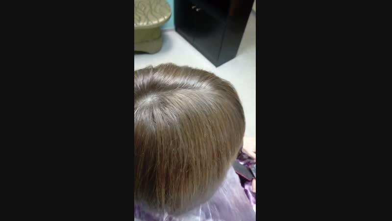 коричневый блонд без осветления и стрижка