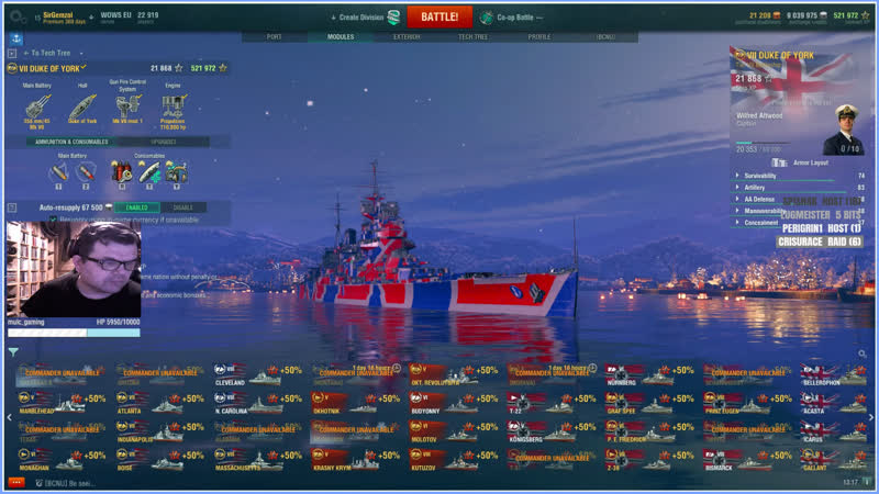 Twitch Drops Enabled World Of Warships Ramdom Live PvP Action