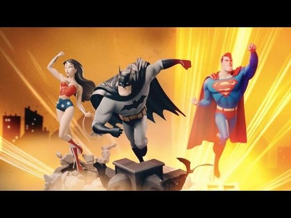 DC ANIMATED Sideshow Statues - Batman Superman Wonder Woman