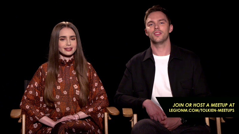 Nicholas Hoult and Lily Collins invite you to join a Legion M meetup for Tolkien!