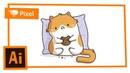 Рисуем котика в Adobe Illustrator | уроки для новичков
