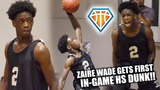 Zaire Wade FIRST IN-GAME High School Dunk!! Leads Heritage Over Tough Cardinal Gibbons Squad