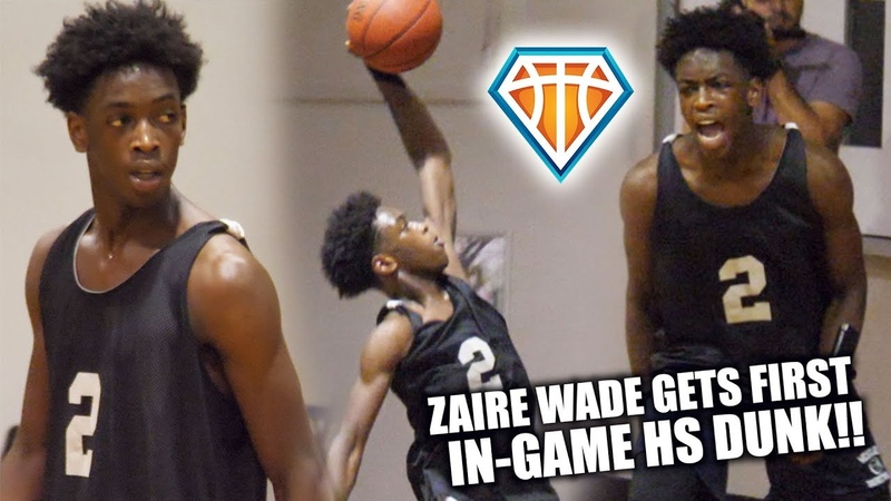 Zaire Wade FIRST IN-GAME High School Dunk!! | Leads Heritage Over Tough Cardinal Gibbons Squad