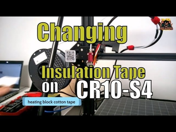Changing the Cotton Insulated tape on my Creality cr-10s