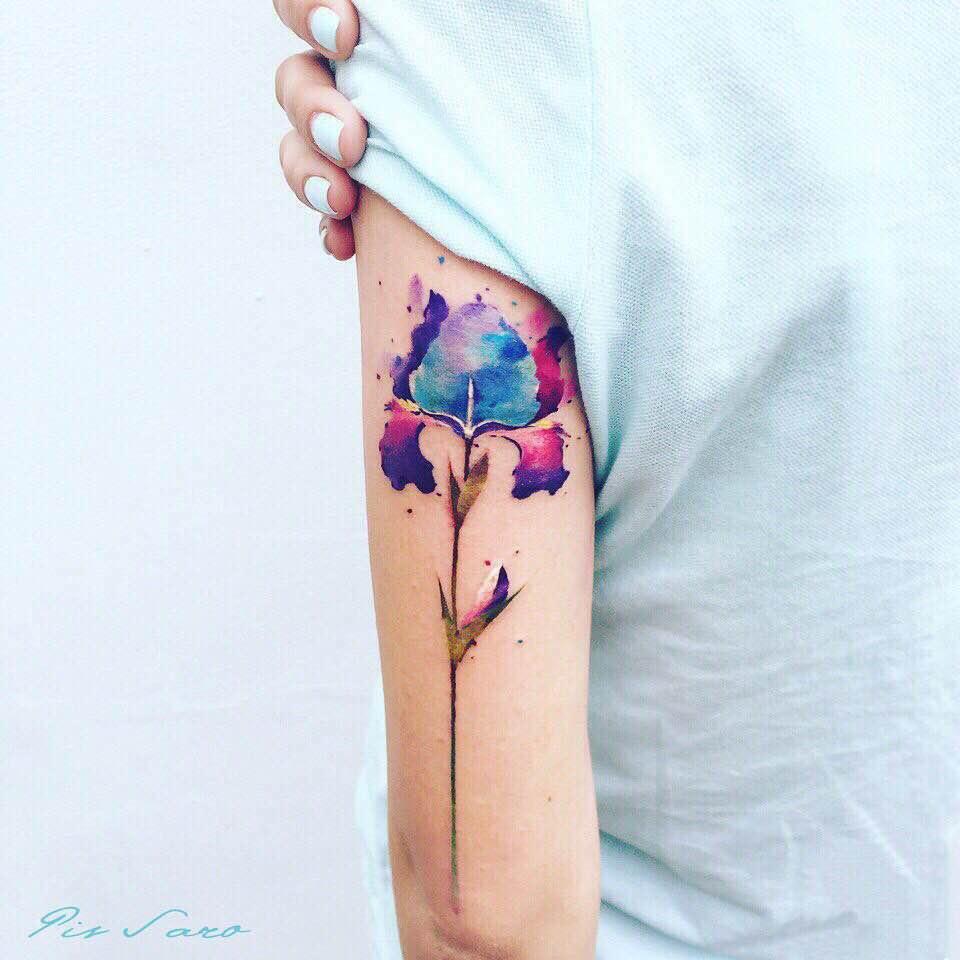 Ботанические тату для нежных леди от Pis Saro
