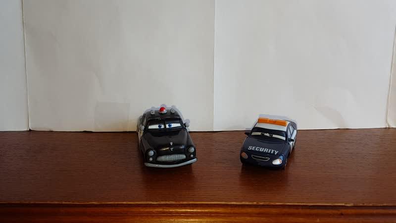 Cars Sheriff And Marlon Mckay Comparison/Тачки сравнение - [Несравнимые]