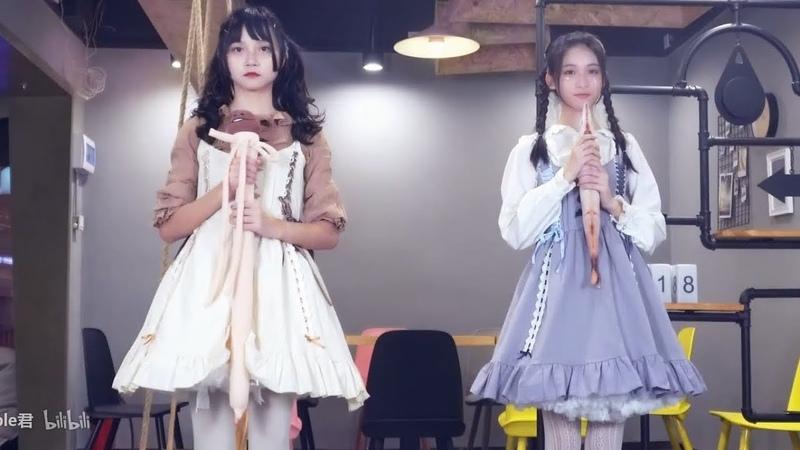 【中国人が日本の曲で踊ってみた】ビバハピ【apple君×糯米七】【初音ミ12