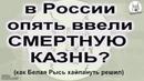В России опять ввели смертную казнь ? (смотрите до конца!)