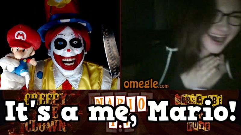 Creepy The Clown   IT'S A ME, MARIO! - Omegle scare