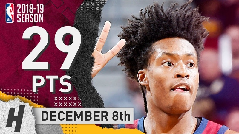 Collin Sexton Full Highlights Cavaliers vs Wizards 2018 12 08 29 Pts 6 Ast 3 Rebounds