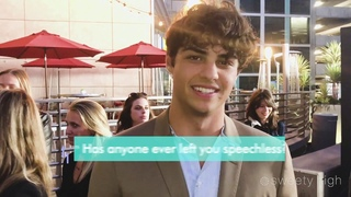 NOAH CENTINEO REVEALS PICK UP LINES, TEXTING vs. CALLING & MORE | Sierra Burgess Is A Loser