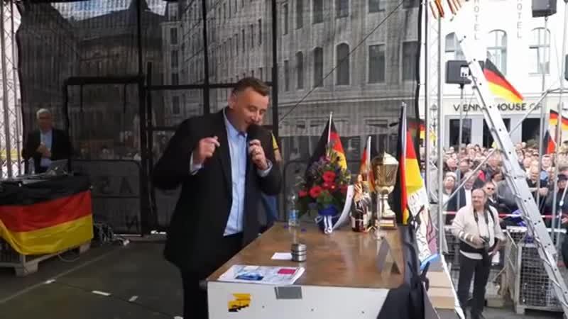 Vier Jahre Pegida - Rede von Michael Stürzenberger in Dresden