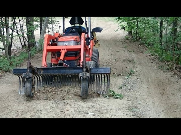 Grading a Steep Driveway in NH White Mountains will