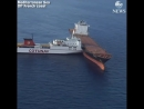 Two cargo ships collided in the Mediterranean Sea, north of Corsica, France