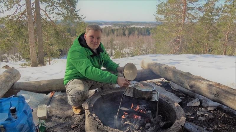 Финский суп c лососем на костре. Простой рецепт Лохикейтто.
