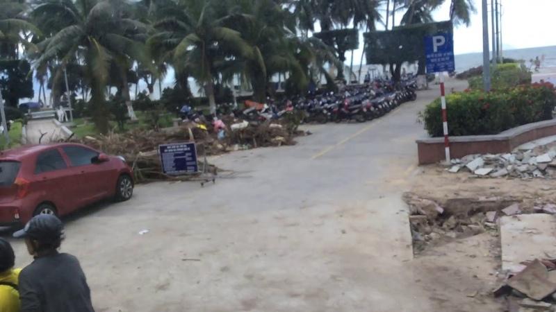 Ня Чанг Вьетнам 2017. После тайфуна 5 ноября 2017