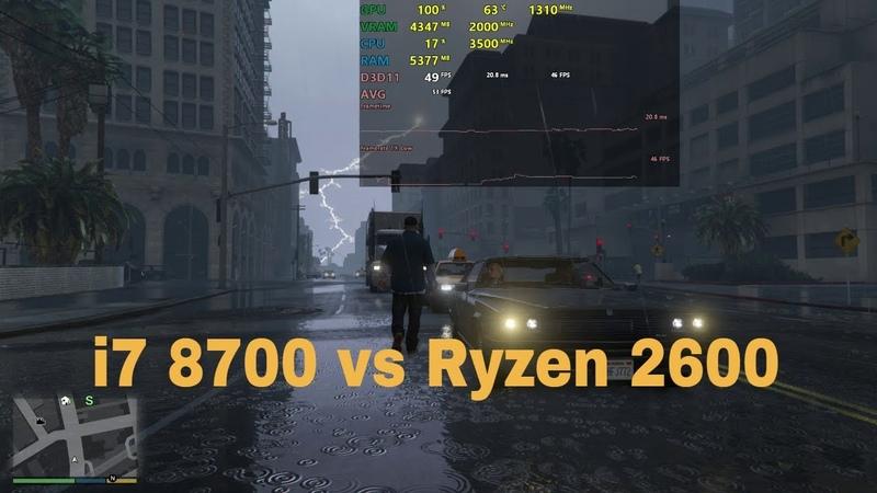 I7 8700(k) vs Ryzen 5 2600 Gaming and Rendering Benchmarks