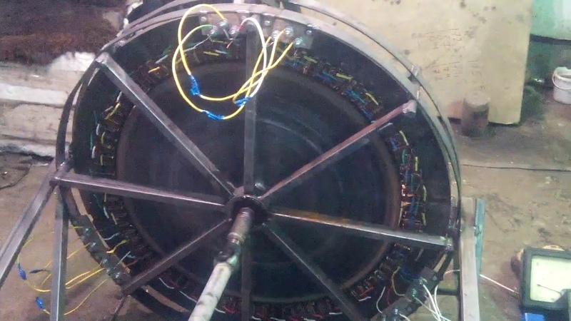 Мощный ,низко-оборотный генератор от Игоря Лотц (часть 6) работа под нагрузкой