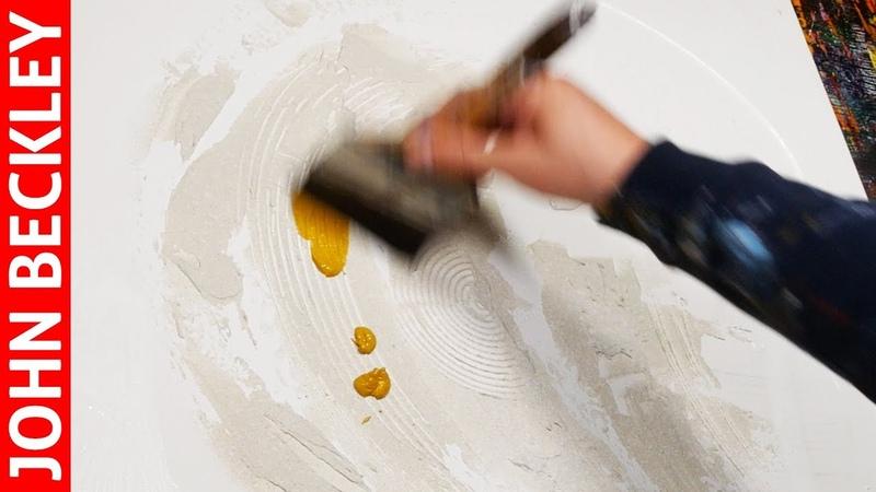 Peinture Abstraite à l'Acrylique - Démonstration | Damona