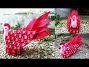 62) Ide Kreatif - Cara membuat tempat permen dari Flanel || candy ayam || candy merak || candy angsa