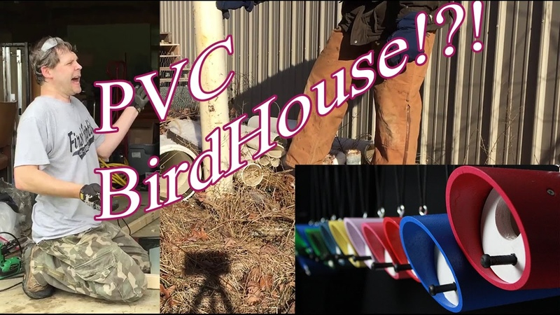PVC Bird House. Birdhouses from PVC pipe Are you serious!