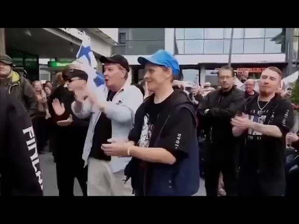 Michel Paulat Tells The Muslims What He Thinks About Them Helsinki Finland..