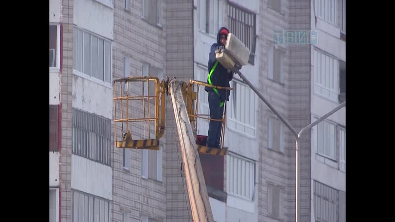 К ремонту уличных фонарей приступила компания Байкал