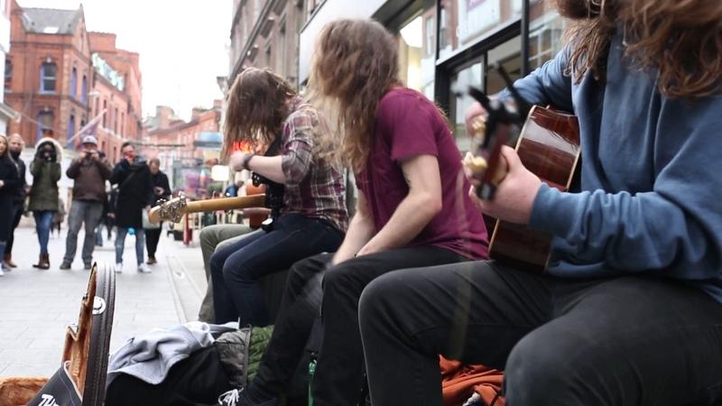 Sepultura - Kaiowas - street performance in Dublin, 31st December 2016
