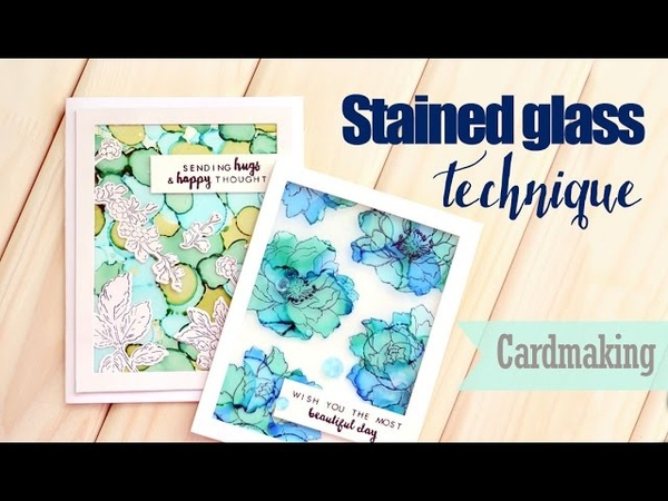 Cards with Stained Glass effect