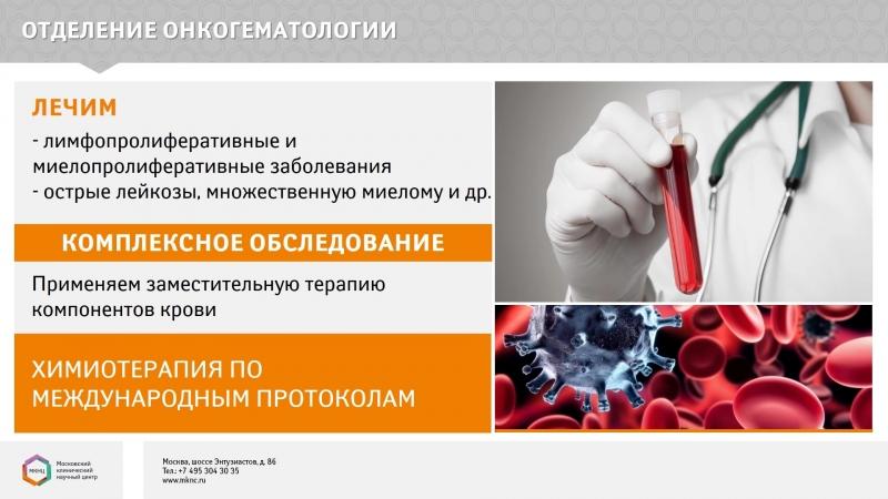 МКНЦ имени А.С.Логинова сегодня