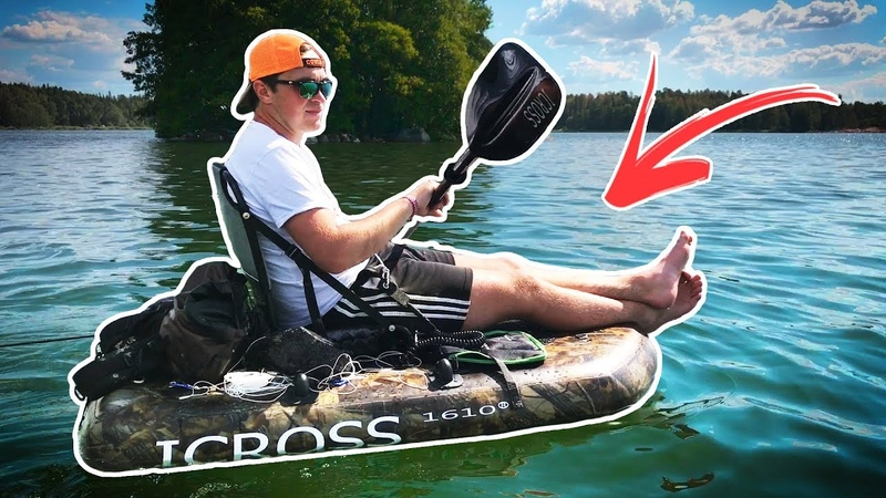 Small Lake PERCH FISHING - Trying out the ICROSS Kayak/Float Tube