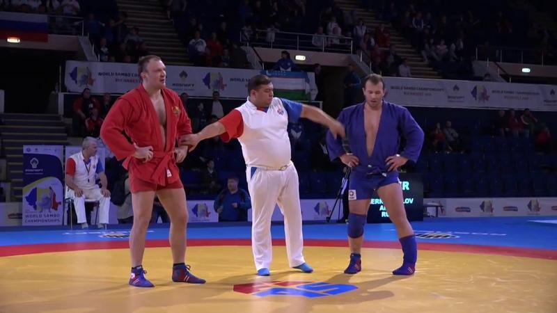 CHERNOSKULOV (RUS) vs KAZUSIONAK (BLR). World SAMBO Championships 2018 in Romania