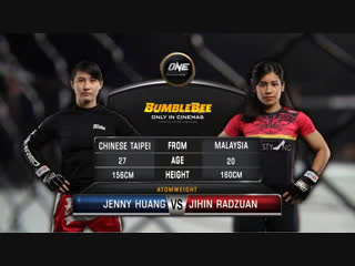 ONE: Destiny of Champions | Jenny Huang vs. Jihin Radzuan