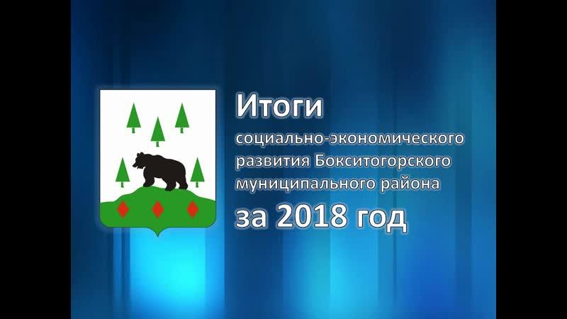 Итоги социально-экономического развития Бокситогорского муниципального района за 2018 год