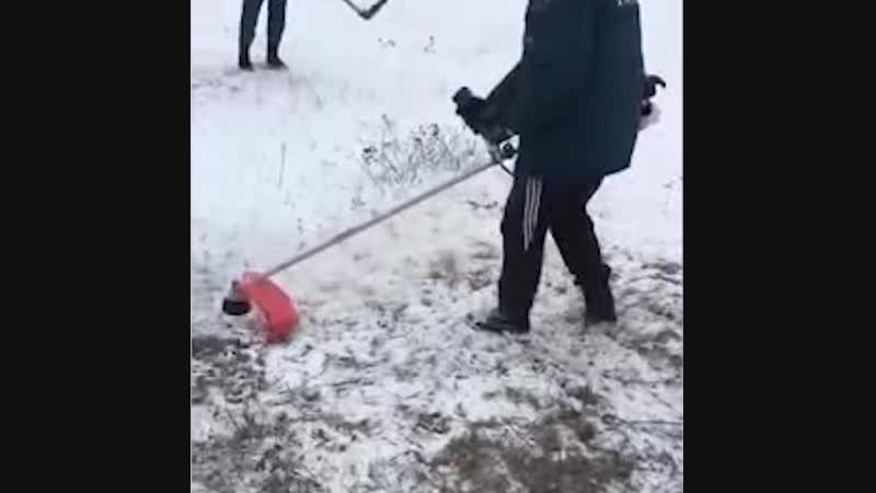 МЧС косит траву под снегом | АКУЛА