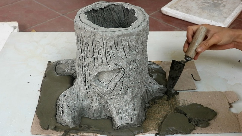 Awesome Tree Stump Ideas for Garden Making a Tree shaped Flower Pots Easy DIY garden