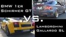 Lamborghini Gallardo vs BMW 1er M GT Team Schirmer Race 1