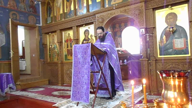 Проповедь иеромонаха Феодосия Огиевича после литургии в Горнальском монастыре 24 Марта 2019года