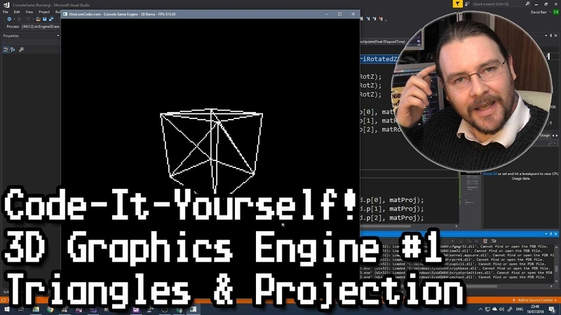 Code-It-Yourself! 3D Graphics Engine Part 1 - Triangles Projection