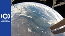 Astronaut soaks up view of Earth during spacewalk on ISS