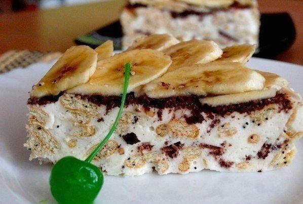 Сметанный торт из крекера.