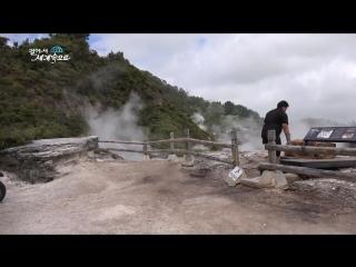 【k】newzealand travel-rotorua_geyser_hangi_pohutu geyser_maori