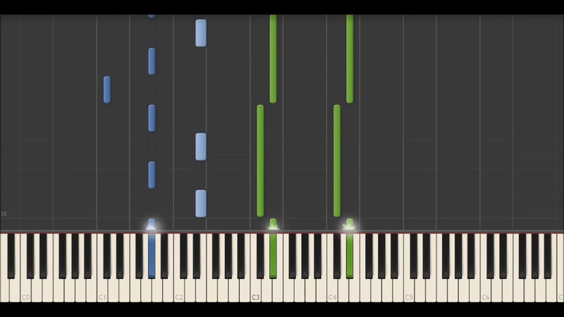 Yann Tiersen - Point Mort (Synthesia Tutorial)