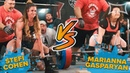 2 STRONGEST WOMEN IN THE WORLD FACE OFF @ U S Powerlifting Championship COHEN vs GASPARYAN