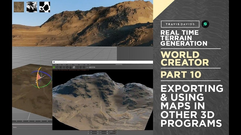 World Creator Introduction - PART 10 - Exporting Using Maps In Other 3D Programs