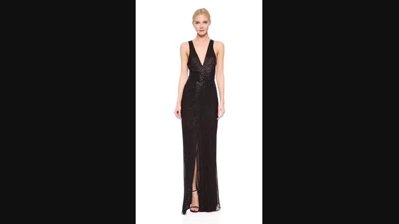 Вечернее платье Monarch от Parker (594$) из шелкового шифона с рядами полупрозрачных бусин. Правда, оно чудесно?