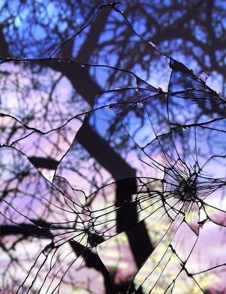 Говорят, смотреть в разбитое зеркало - плохая примета...