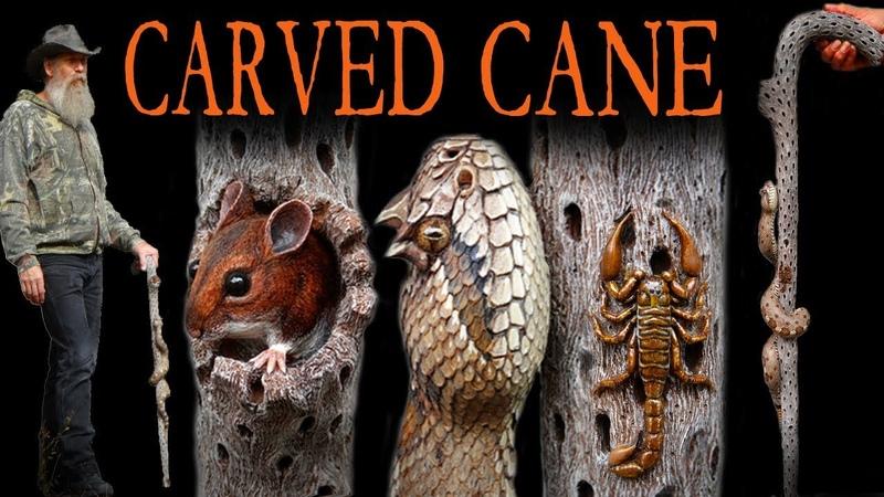 Carving a Southwestern Desert Cane