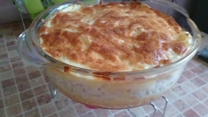 Картофельная запеканка с фаршем и сыром.(в духовке)Очень вкусная.